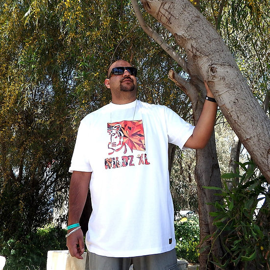 WILDZ XL Tiger T-shirt White