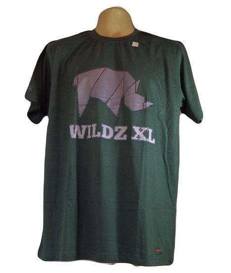 WILDZ XL Rhino T-shirt Green