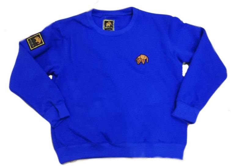 1st Edition Elephant logo Embroidery Sweatshirt Royal Blue