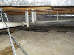Moisture in Jemison crawlspace