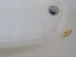 Alabaster - damage to tub