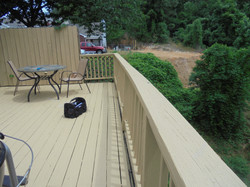 Deck rail needs repair in Pelham, AL