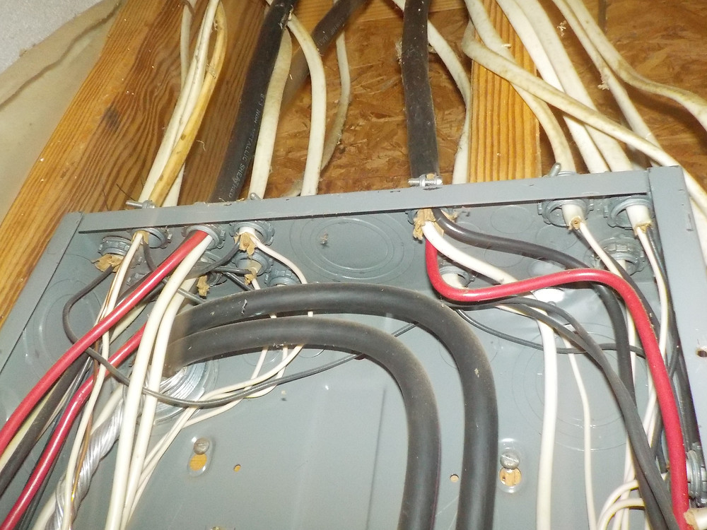 Ground wires cut in electric panel