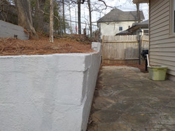 Retaining wall in Homewood, Alabama