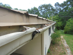 Home Inspector on the eaves.