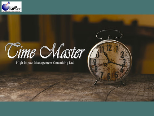 Time Master - Time Management Self-directed learning material (PDF)