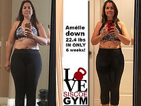 successful weight loss at siscoe gym with Amelie