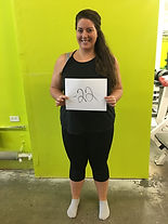 successful weight loss at siscoe gym with Kaitlyn