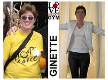 successful weight loss at siscoe gym with Ginette