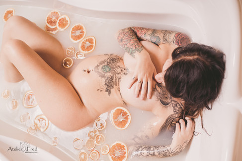 photo femme enceinte bain