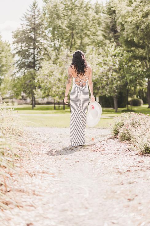 photo femme jardin