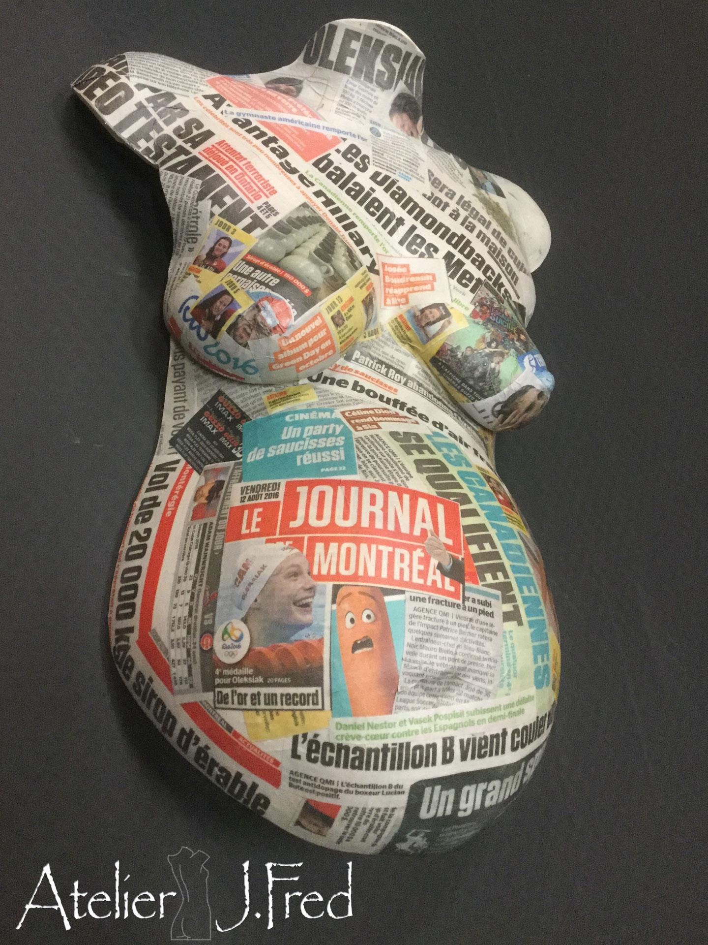 moulage bédaine journaux
