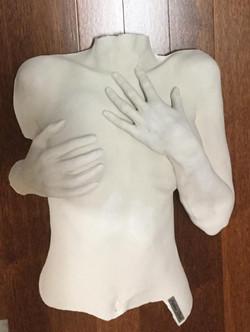 moulage corporel buste avec mains