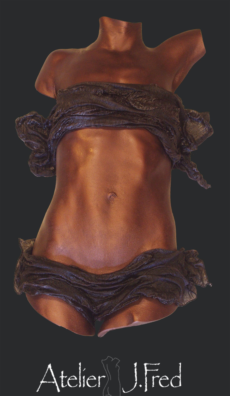 moulage corporel fini cuivre