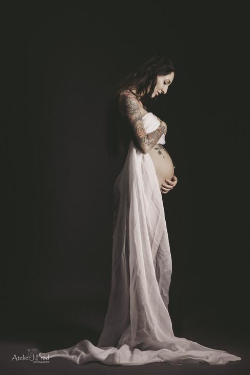 photo boudoir grossesse
