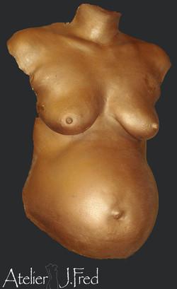 moulage corps femme enceinte