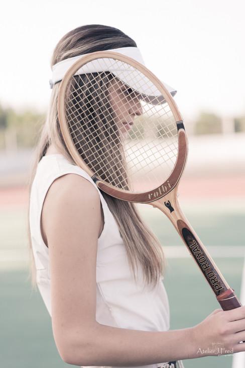 photo tennis vintage
