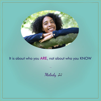 It is about who you ARE, not about who you KNOW