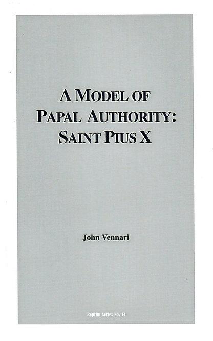Un modelo de autoridad papal: San Pío X