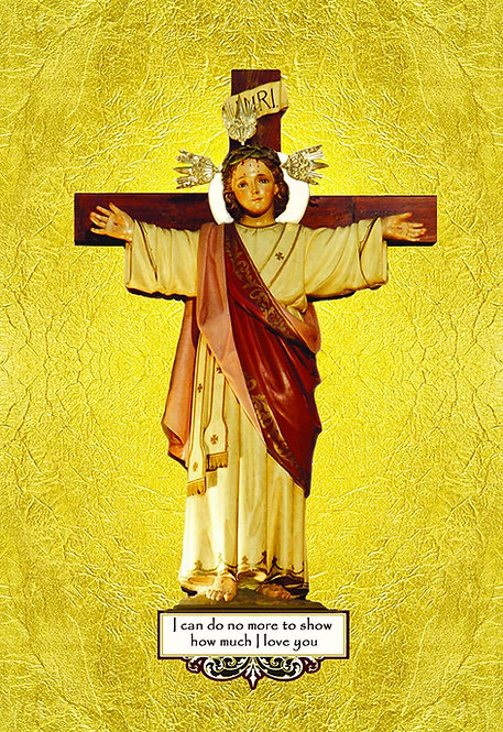Christ Child Crucified Holy Card