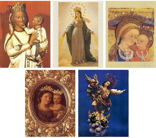 Set 2: Five Beautiful Pictures of Our Lady