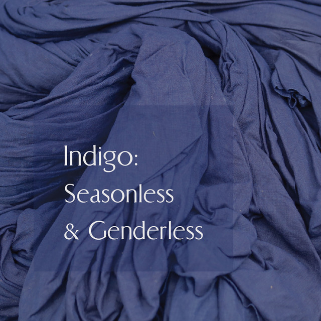 Embracing the age old handcraft tradition of Indigo dyeing, Anhad Khadi explores multitude of genres of aesthetics and techniques. The timeless indigo is interpreted as surface texture through hand weaving, hand block printing, brushing and into structural textile through techniques like kantha and stitch & slash