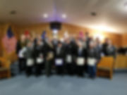 Lodge members with Grand Master of Minne