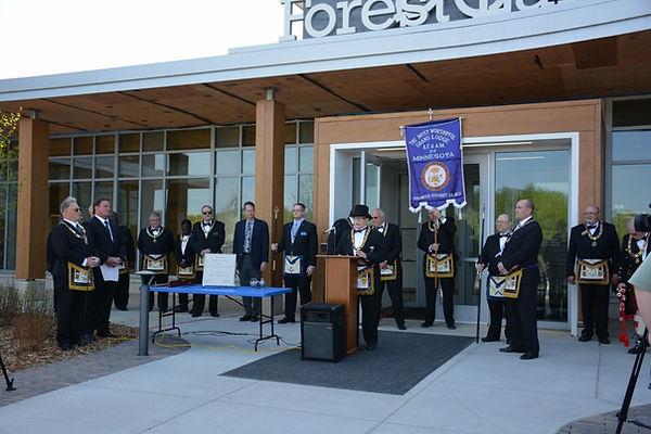 Masons Preform Corner Stone Dedication o