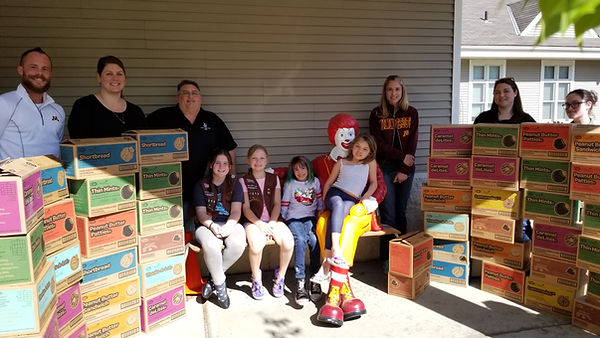Masons purchase $1,400 of Girl Scout coo