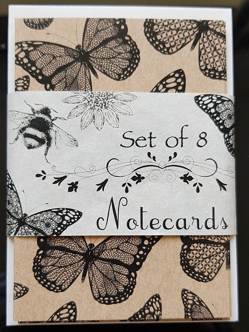 Set of 8 Notecards Handmade in the UK