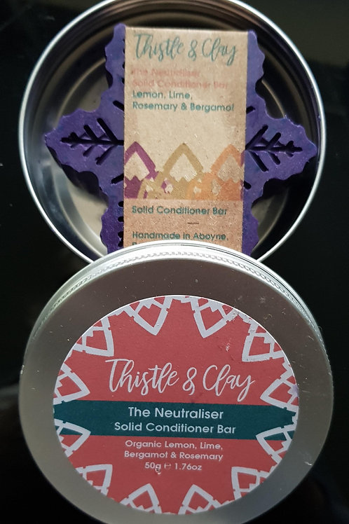 Neutraliser Organic Solid Conditioner Bar by Thistle & Clay