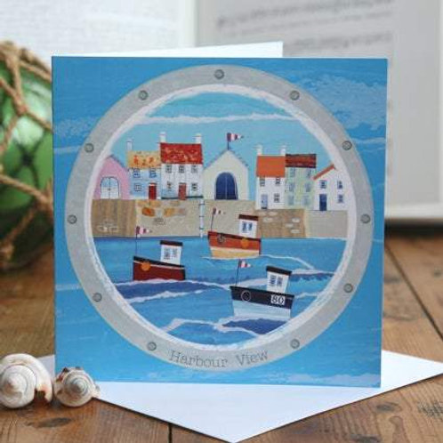 Harbour View Greetings Card by Joanne Wishart