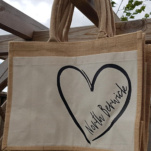 Eco Friendly Jute Bag Made in Scotland, North Berwick, East Linton, Dirleton