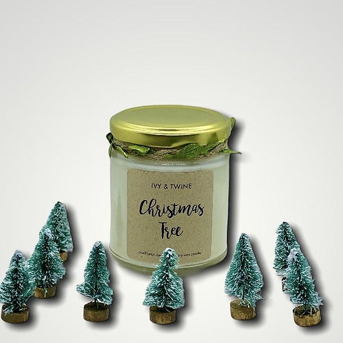 Christmas Tree Candle (190g) hand poured in Scotland