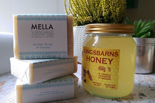 Scottish Honey and Oatmeal Bar Soap by Mella