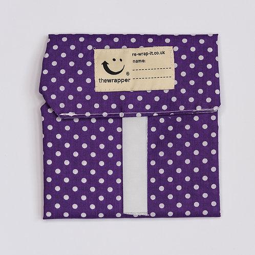 Purple Polka Dots by Re-Wrap-It
