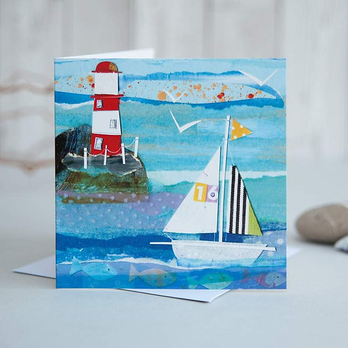 Sailing Boat Card by Joanne Wishart