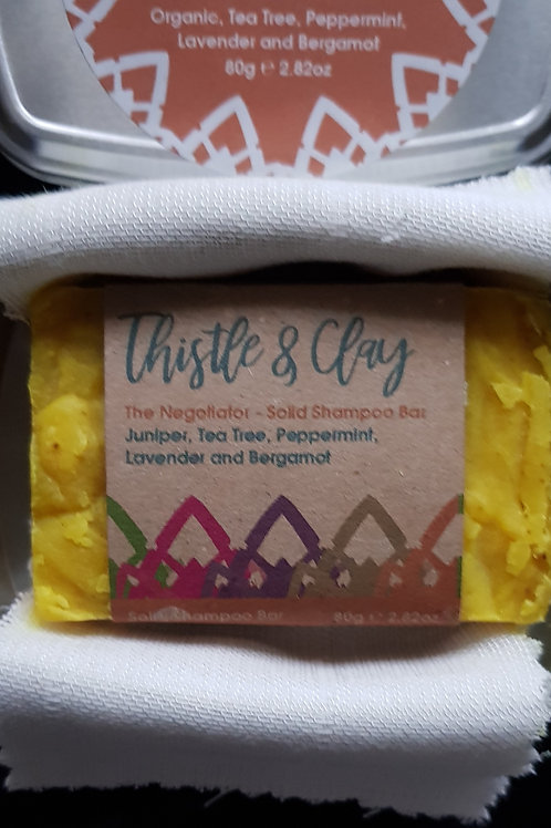The Negotiator Organic Shampoo bar 80g by Thistle and Clay