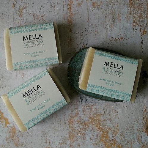 Bergamot and Black Pepper Soap by Mella