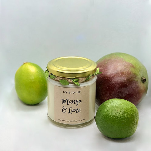 Mango & Lime (190g) Candle by Ivy & Twine