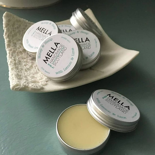 Honey and Hemp Lip Balm with Lemon and Lime by MELLA
