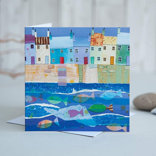 Harbour Houses Card by Joanne Wishart