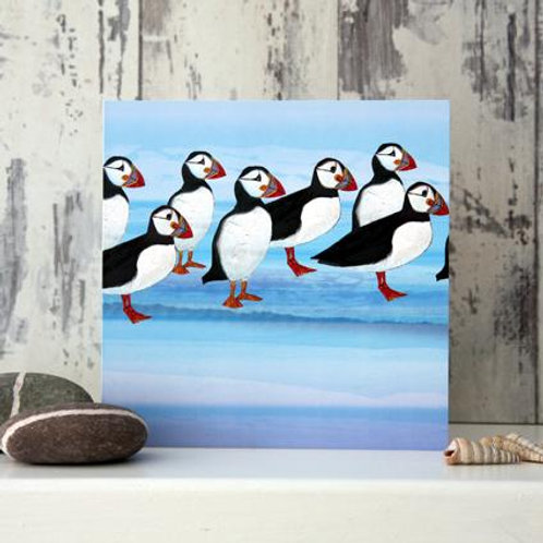 Puffins Card by Joanne Wishart
