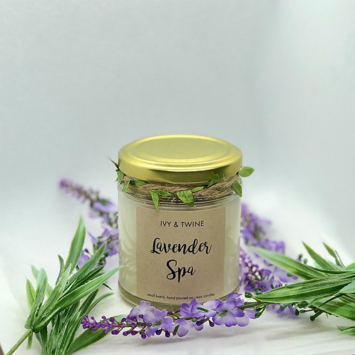 Lavender Spa (190g) Candle by Ivy & Twine