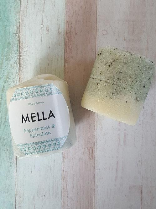 Peppermint and Spirulina Body Scrub Handmade by MELLA