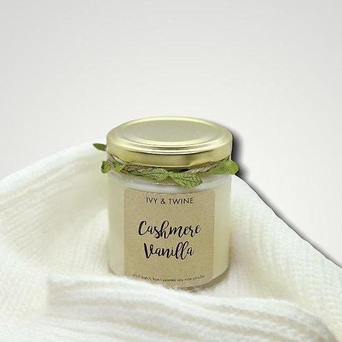 Cashmere Vanilla Candle (190g) by Ivy and Twine