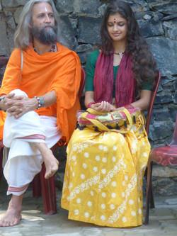Mr. Rahju and his daughter, Rudrani