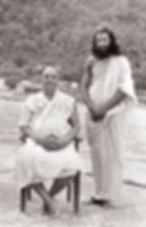 Sri Gurudev with Master Sivanananda