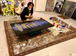 Marlene Delaquis dans son atelier