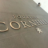 Stainless steel cut out letters in office in Cornhill